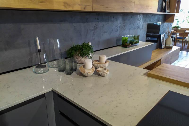 Kuhinja od kvarca Areti Bianco 2